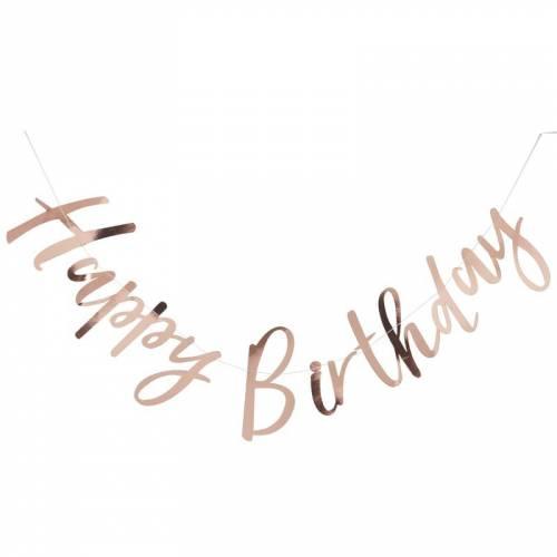 Guirlande Happy Birthday - Rose Gold