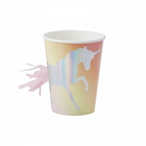8 Gobelets Licorne Irisée