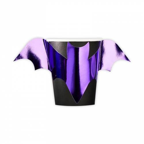 8 Gobelets Chauve-Souris - Purple Halloween