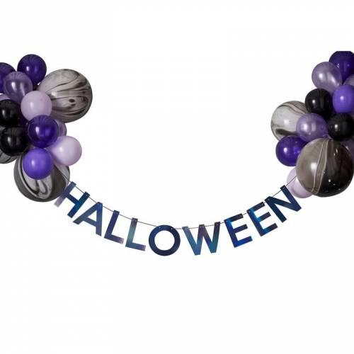 Kit Guirlande et Ballons - Purple Halloween