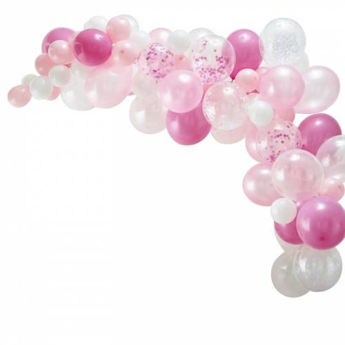 Kit Arche de 70 Ballons - Rose