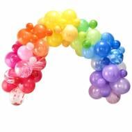 Kit Arche de 85 Ballons - Arc en ciel