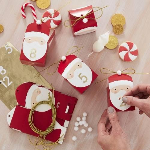 Calendrier de l Avent Père Noël - 24 Boîtes