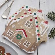 16 Serviettes Maison Pain d'Épice - Noël