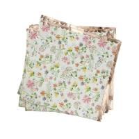 Contient : 1 x 16 Petites Serviettes Fleurs - Rose Gold