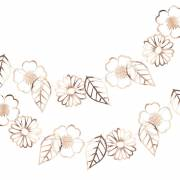 Guirlande Fleurs Rose Gold (3 m)