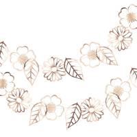 Contient : 1 x Guirlande Fleurs Rose Gold (3 m)