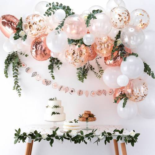 Kit Arche de 70 Ballons - Rose Gold