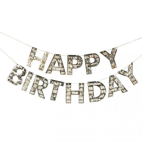 Guirlande Happy Birthday Gold - 1,5 m