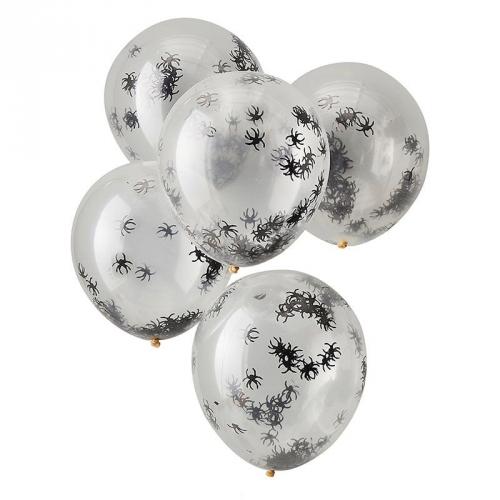5 Ballons Confettis - Araignée