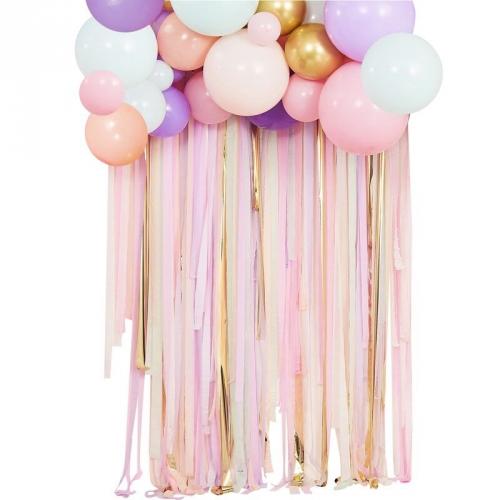 Kit Déco - Ballons et Rideau Pastel
