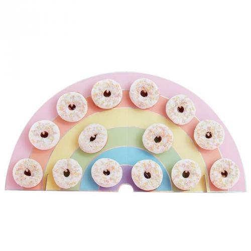 Support à Donuts - Arc-en-Ciel Pastel