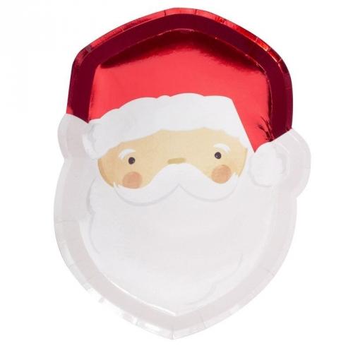 8 Assiettes Père Noël