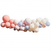 Kit Arche de 60 Ballons - Nude/Bleu/Blanc