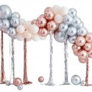 Kit Arche de 95 Ballons Métalliques - Rose Gold/Argent/Ivoire