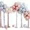 Kit Arche de 95 Ballons Métalliques - Rose Gold/Argent/Ivoire images:#0