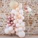 Kit Arche Pampas de 70 Ballons Métalliques - Rose Gold Métallique/Pêche/Caramel. n°2