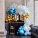 Kit Arche Luxe de 200 Ballons - Or Métallique/Bleu Métallique/Bleu Clair/Blanc. n°2