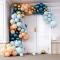 Kit Arche Luxe de 200 Ballons - Or Métallique/Turquoise Métallique/Pêche/Menthe images:#1