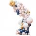 Kit Arche Luxe de 200 Ballons - Or Métallique/Nude/Marine/Blanc. n°1