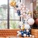 Kit Arche Luxe de 200 Ballons - Or Métallique/Nude/Marine/Blanc. n°2