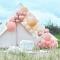 Kit Arche Luxe de 200 Ballons - Rose Gold Métallique/Pêche/Corail/Rose images:#1