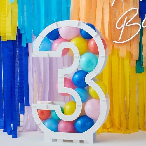Structure à Ballons Chiffre 3 (81 cm)