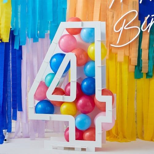 Structure à Ballons Chiffre 4 (81 cm)