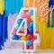 Kit Déco Chiffre 4 à Remplir  - Blanc images:#0