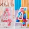 Kit Déco Chiffre 4 à Remplir  - Blanc images:#2