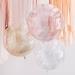 3 Ballons Orbz - Blanc/Rose/Or Métllique Pailleté. n°2