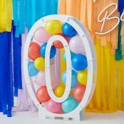 Structure à Ballons Chiffre 0 (81 cm)