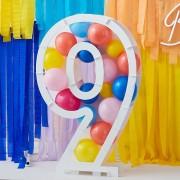 Structure à Ballons Chiffre 9 (81 cm)