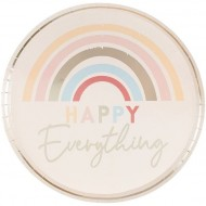 8 Assiettes Happy Everything Arc-en-Ciel Pastel