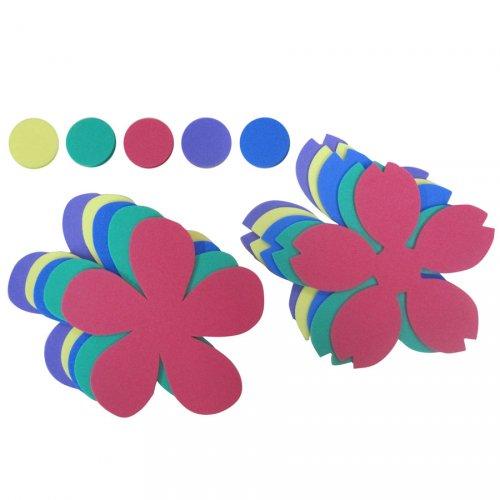 Kit 10 Fleurs et Pistils en Mousse