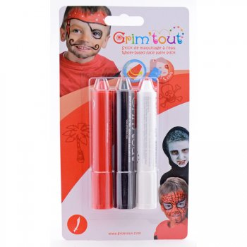 3 Sticks de Maquillage Pirate