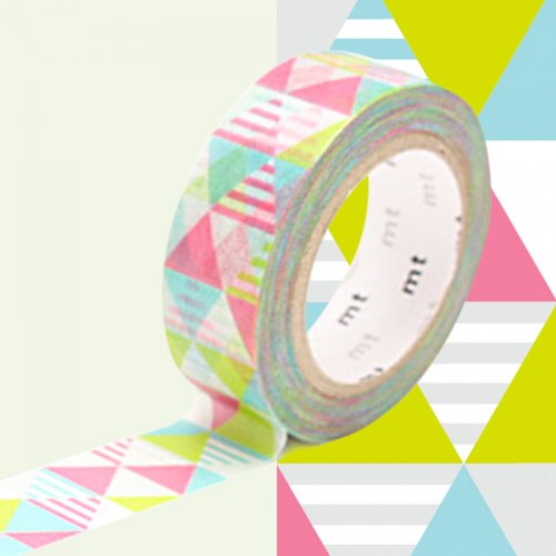 Masking Tape Triangles Rose/vert/Turquoise (10 m)