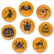 8 Décors Ronds Halloween à Plat
