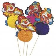 4 Clowns joyeux sur piques