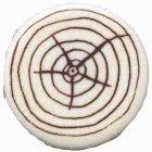 4 Rondins de bois en pâte d'amandes (4,5 cm)