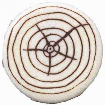 4 Rondins de bois en pâte d amandes (4,5 cm)