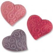 3 Coeurs � Reliefs en P�te d'amande