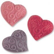 3 Coeurs à Reliefs en Pâte d'amande