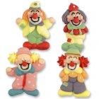 4 Clowns en sucre à plat