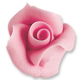 2 Roses rose en sucre 3D