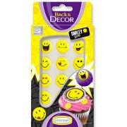 Confettis Smiley sucre � plat Jaune