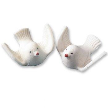 Couple de colombes en sucre