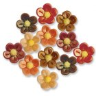 12 Petites Fleurs en pâte d'amande effet nacré
