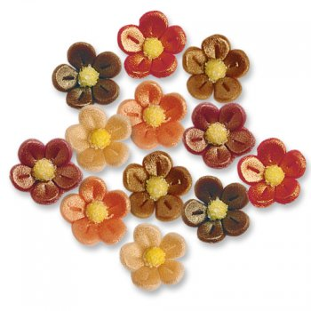 12 Petites Fleurs en pâte d amande effet nacré