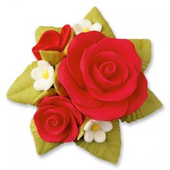 Bouquet de roses rouge en sucre